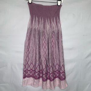 Lapis Tube Dress Maxi Skirt Convertible Coverup.